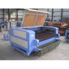Aceasta masina laser este prevazuta cu banda transportoare pentru piele si materiale textile