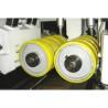 Rolele de avans sunt actionate motorizat iar presiunea acestora este ajustata pneumatic