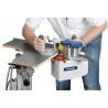 Aceasta masina de aplicat cant poate fi utilizata inclusiv pentru aplicarea canturilor pe piese curbe
