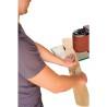 Este dotata standard cu unitate mecanica oscilanta cu rola pentru slefuirea pieselor curbe