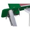 Prevazut cu hota de exhaustare in ambele parti 80 / 120 mm pentru colectarea optima a rumegusului