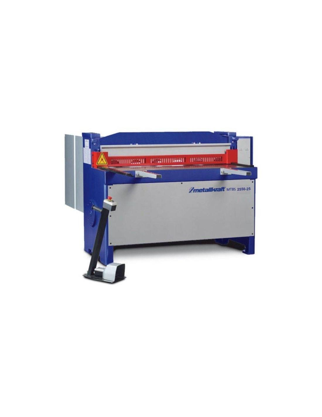 Ghilotina industriala motorizata Metallkraft MTBS 2550-25
