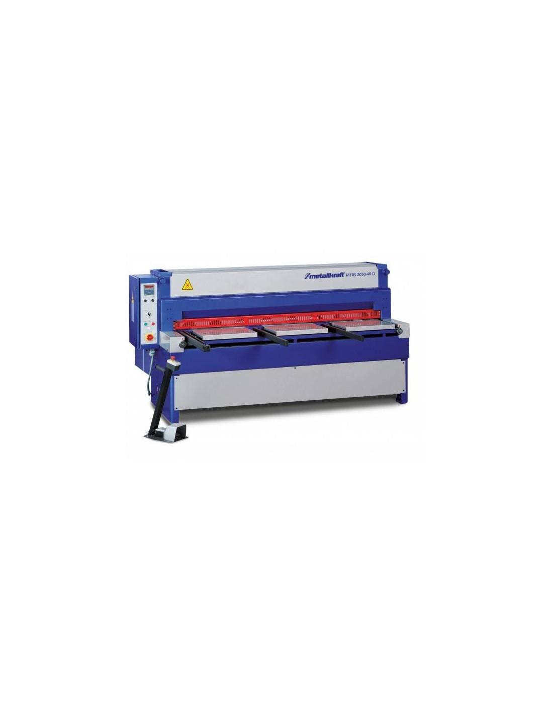 Ghilotina industriala motorizata Metallkraft MTBS 2050-40 D