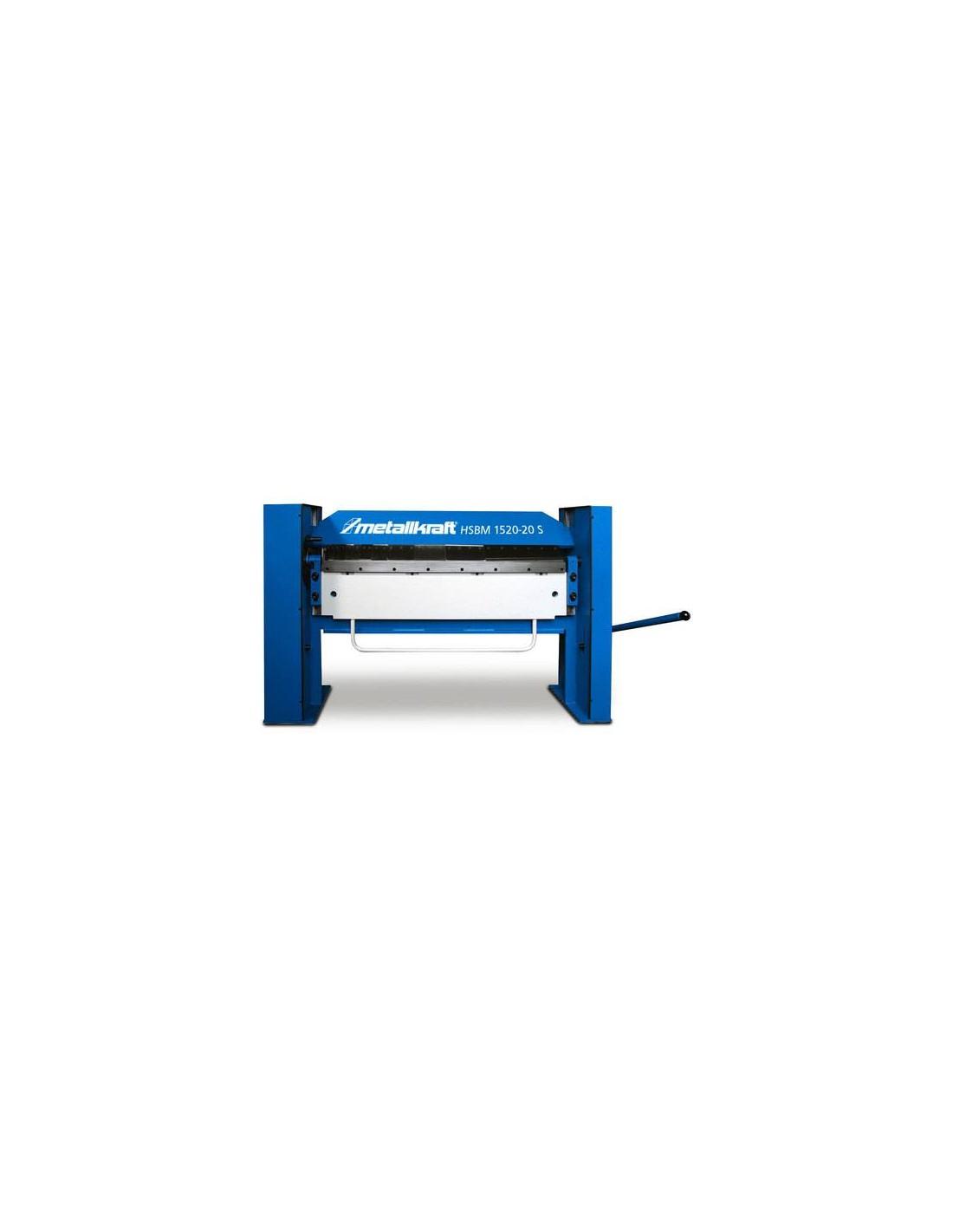 Abkant manual cu falca superioara segmentata Metallkraft HSBM 2020-20 S