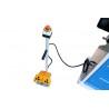 Actionarea masinii se realizeaza cu usurinta cu ajutorul pedalei de actionare