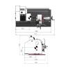 Strung de precizie Optimum TU 2304 V - dimensiuni de gabarit