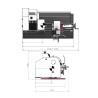 Strung de precizie Optimum TU 2406 - 400 V - dimensiuni de gabarit