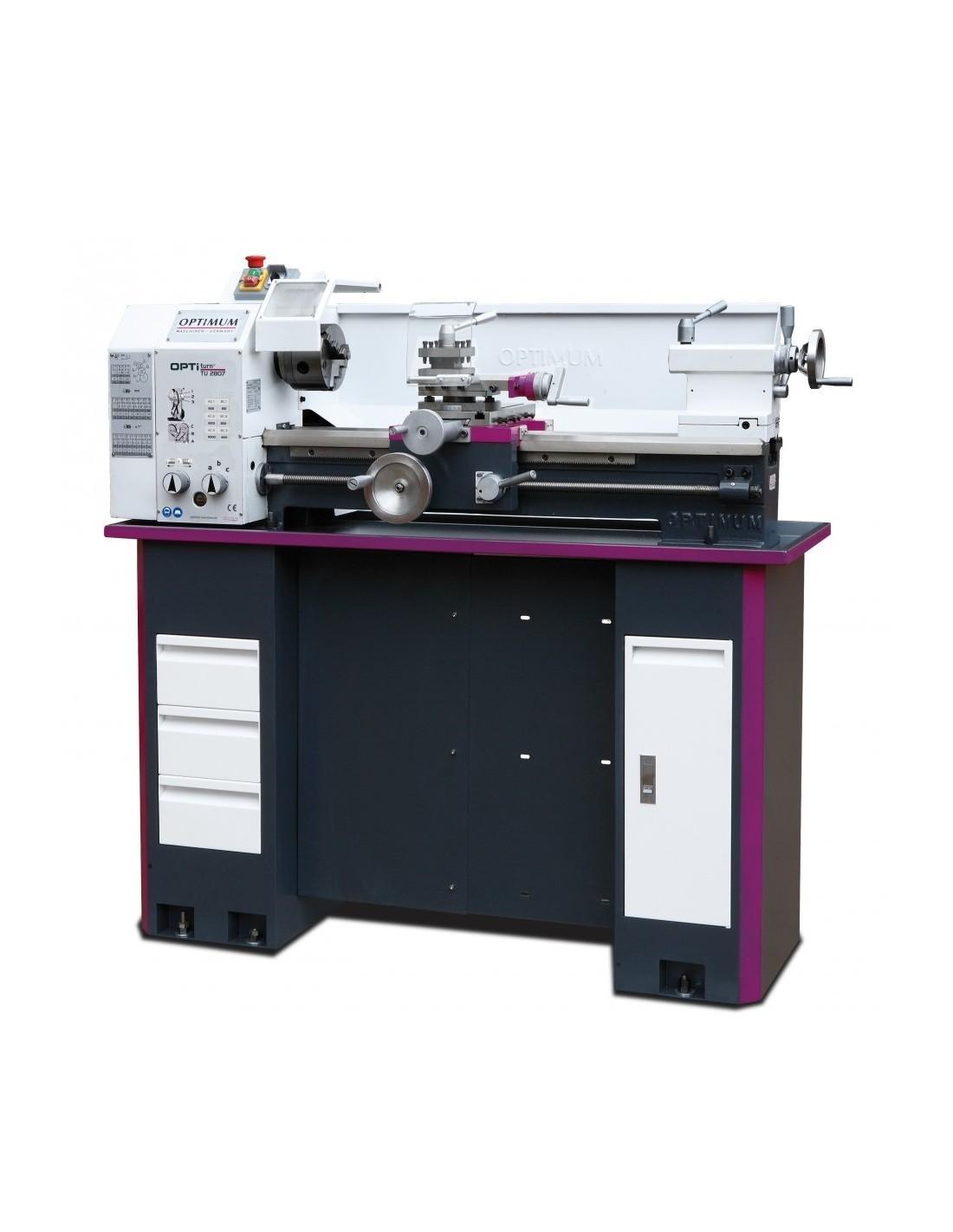 Strung de precizie Optimum TU 2807 - 400 V cu stand optional
