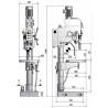 Masina de gaurit cu angrenaj si coloana Optimum B 40 GSP - dimensiuni de gabarit