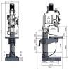 Masina de gaurit cu angrenaj si coloana Optimum B 50 GSM - dimesniuni de gabarit