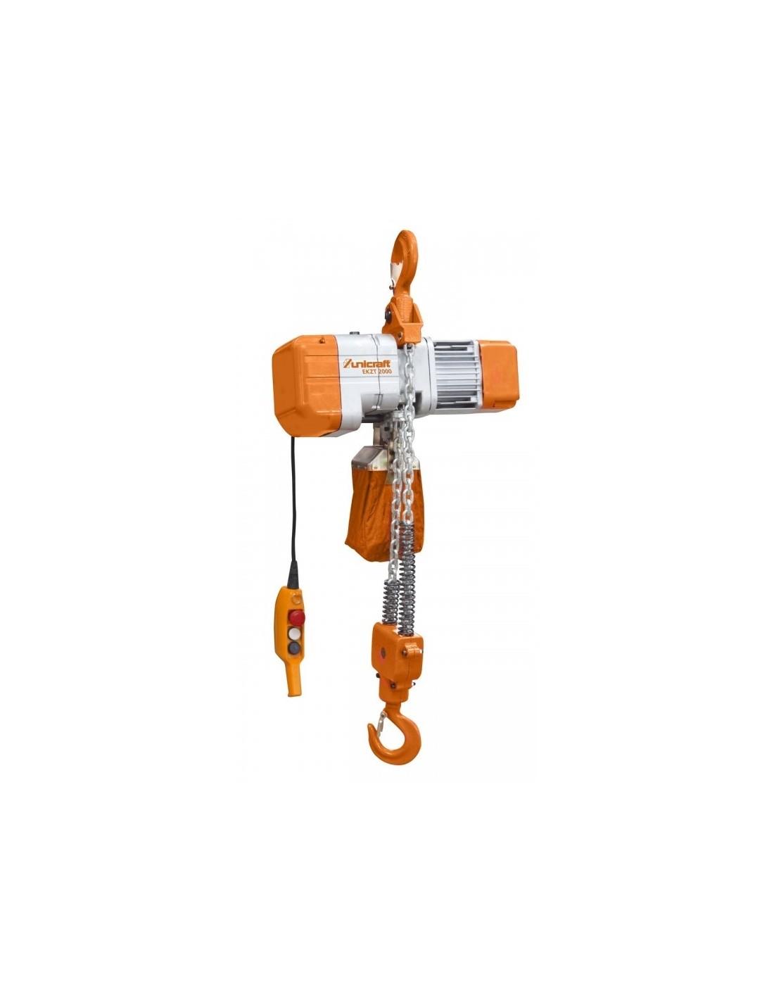 Troliu electric cu lant Unicraft EKZT 1000