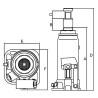Cric hidraulic Unicraft HSWH 5 - dimensiuni