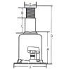 Cric hidraulic profesional Unicraft HSWH Pro 30 - dimensiuni