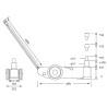 Cric pneumatico-hidraulic Unicraft WWH 40000 PH - dimensiuni de gabarit