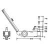 Cric pneumatico-hidraulic Unicraft WWH 60000 PH - dimensiuni de gabarit