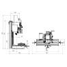 Masina de gaurit si frezat Optimum BF 20 LD Vario - dimensiuni
