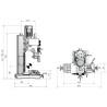 Masina de gaurit si frezat Optimum F 40 E - dimensiuni
