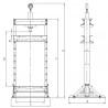 Presa hidraulica de atelier Unicraft WPP 10 TE - dimensiuni