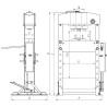 Presa hidraulica de atelier Unicraft WPP 20 E - dimensiuni