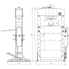 Presa hidraulica de atelier Unicraft WPP 50 E - dimensiuni
