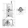Masina de frezat CNC Optimum M 2LS - dimensiuni