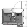 Masina de frezat CNC Optimum F 4 - dimensiuni
