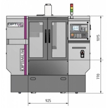 Masina de frezat CNC Optimum F 80 - dimensiuni