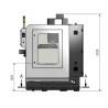 Masina de frezat CNC Optimum F 105/808D - dimensiuni