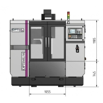 Masina de frezat CNC Optimum F 105/808D Advanced - dimensiuni