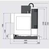Masina de frezat CNC Optimum F 150 TC - dimensiuni