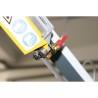 Ghidajul panzei este prevazut cu rulmenti ce asigura stabilitatea benzii