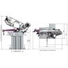 Ferastrau orizontal pentru metal Optimum S 210 G - dimensiuni