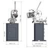 Ferastrau circular pentru metal Optimum CS 275 - dimensiuni