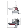 Masina de slefuit cu banda si disc Optimum DBS 75 - dimensiuni