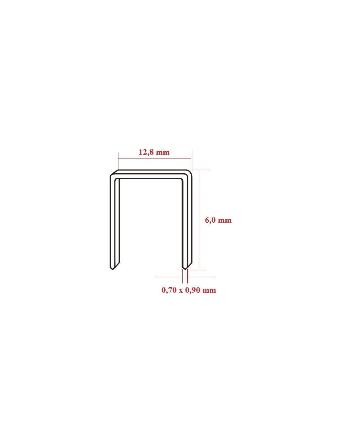 Capse tip U 80 cu lungimea de 6,0 mm - dimensiuni