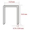 Capse tip U 80 cu lungimea de 16,0 mm - dimensiuni