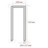 Capse tip U 90 cu lungimea de 19,0 mm - dimensiuni