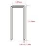 Capse tip U 90 cu lungimea de 32,0 mm - dimensiuni