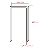 Capse tip N cu lungimea de 32,0 mm - dimensiuni
