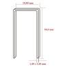 Capse tip N cu lungimea de 50,0 mm - dimensiuni