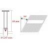 Cuie tip RN in benzi 34° cu lungimea de 60 mm - dimensiuni