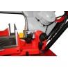 Viteza de coborire a bratului este controlata cu ajutorul unui cilindru hidraulic cu supapa