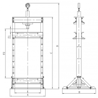 Presa hidraulica de atelier Holzmann WP 100H - dimensiuni