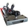 Ajustarea corecta a cutitelor poate fi realizata cu ajutorul unui dispozitiv de calibrat cutite optional