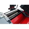 Blocul taietor este dotat cu rulmenti si este prevazut cu 3 cutite calitate HSS