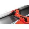 Limitatorul paralel stabil pentru rindeluire cu ghidaj prismatic este inclinabil 90° pana la 45°