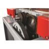 Sistemul de transmisie este prevazut cu 2 curele pentru axul taietor si lanturi pentru avansul la grosime