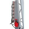 Este echipata cu unitate hidraulica in doua trepte si manometru indicare presiune