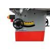 Inclinarea unitatii ferastraului pana la 45° cu ajutorul unei manivele pozitionata ergonomic