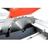Unitatea de taiere este echipata cu protectie cu stut de aspirare a rumegusului